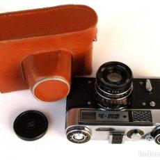 Cámara de fotos: *C1986* ? FED 5 C TELEMÉTRICA (ÓPTICAS ROSCA M39 LEICA / CANON) ? INDUSTAR-61 F2.8 55MM (FUNDA). Lote 184056668