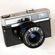 Cámara de fotos: *C1980* ● GOMZ - LOMO SOKOL 2 (TIPO PK6035) TELEMÉTRICA ● INDUSTAR-70 F2.8 (FUNDA). Lote 184496941