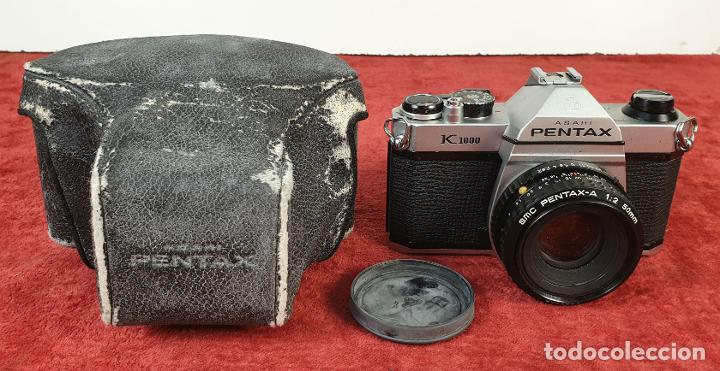 CÁMARA FOTOGRÁFICA PENTAX MODELO K 1000. FUNDA ORIGINAL. CIRCA 1980. (Cámaras Fotográficas - Clásicas (no réflex))