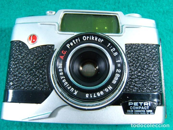 Cámara de fotos: PETRI COMPACT-CAMARA FOTOGRAFICA-OBJETIVO ORIKKOR KURIBAYASHI-MADE IN JAPAN-FUNDA DE PIEL-AÑOS 70. - Foto 2 - 189638296