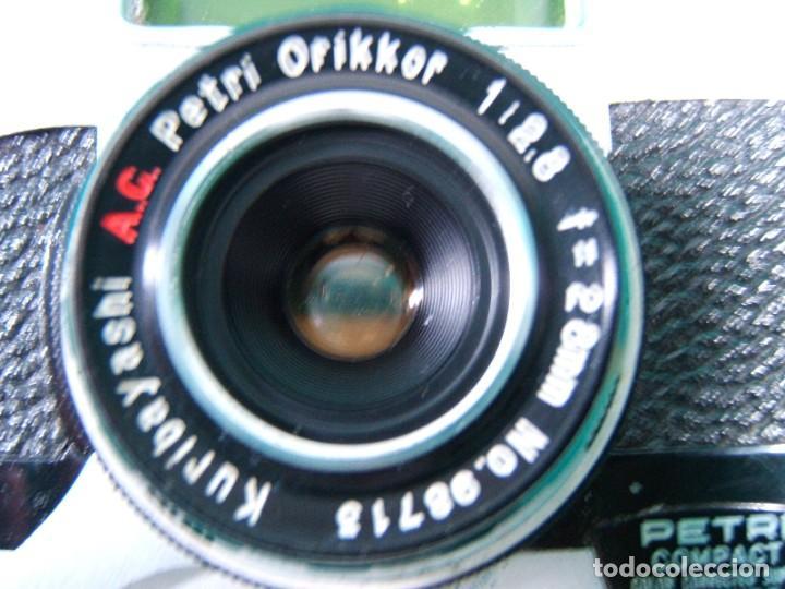 Cámara de fotos: PETRI COMPACT-CAMARA FOTOGRAFICA-OBJETIVO ORIKKOR KURIBAYASHI-MADE IN JAPAN-FUNDA DE PIEL-AÑOS 70. - Foto 7 - 189638296
