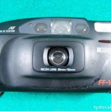 Cámara de fotos: RICOH FF-10-TWIN DATE-LENS-35MM/55MM-AF SYSTEM-FLASH-FF10-CAMARA FOTOGRAFICA MADE IN TAIWAN-AÑOS 80.. Lote 189658842