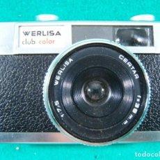 Cámara de fotos: WERLISA CLUB COLOR-CERTEX-OBJETIVO CERTAR 1:7,5-F=38 MM-CAMARA FOTOGRAFICA FABRICADA ESPAÑA-AÑOS 70 . Lote 189661133