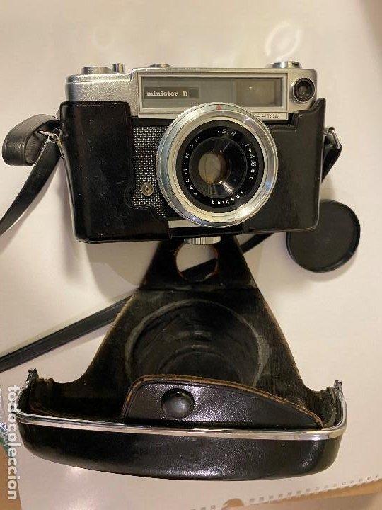 Cámara de fotos: CAMARA FOTOGRAFICA YASHICA CON PARASOL Y FUNDA ORIGINAL - Foto 6 - 190554455