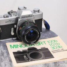 Cámara de fotos: MINOLTA SRT 101 B ANALOG CAMERA + MD ROKKOR LENS 28 MM F 3.5. Lote 191164467