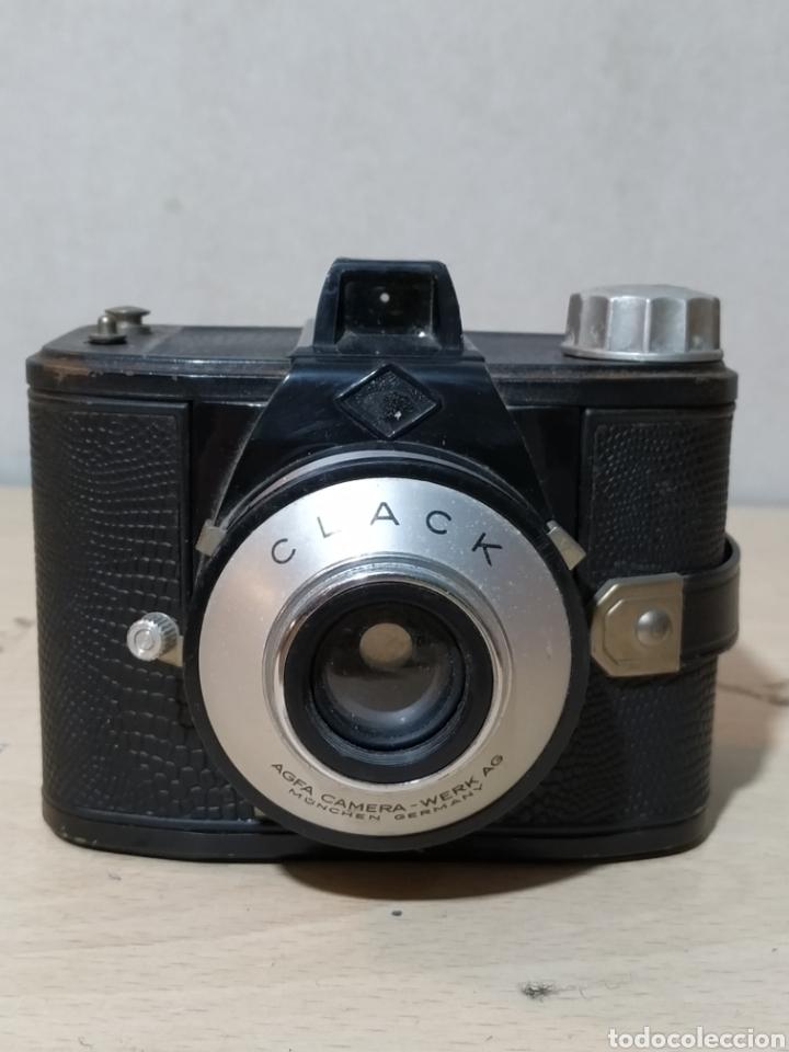 AGFA CLACK CON FUNDA - AÑOS 50 (Cámaras Fotográficas - Clásicas (no réflex))