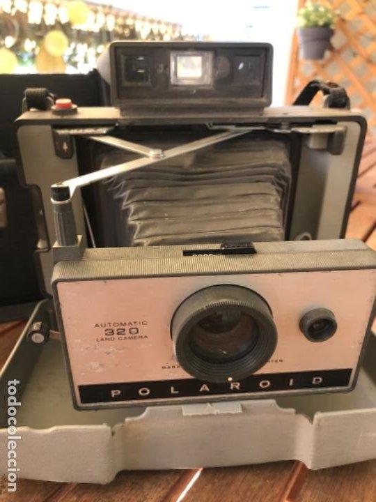 Cámara de fotos: Antigua Cámara Fotos Polaroid 320. Automática. De fuelle. Con Flash y funda. - Foto 4 - 193610171