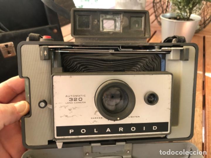Cámara de fotos: Antigua Cámara Fotos Polaroid 320. Automática. De fuelle. Con Flash y funda. - Foto 7 - 193610171