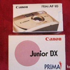 Cámara de fotos: CANON: PRIMA AF-10 Y REGALO JUNIOR DX. . Lote 194667303