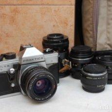 Cámara de fotos: CÁMARA FOTOGRÁFICA PRÁKTICA ANALÓGICA A CARRETE, 4 OBJETIVOS, FLASH Y BOLSA. (FUNCIONA). Lote 194760093