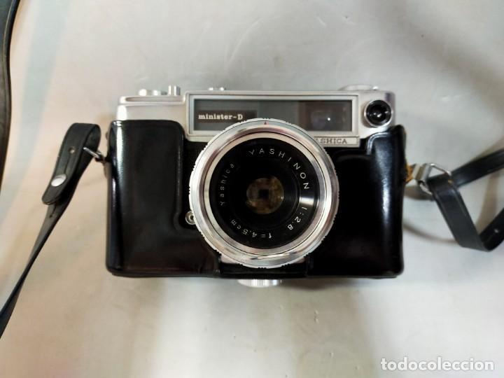 Cámara de fotos: CAMARA DE FOTOS YASHICA MD JAPAN, NUMERADA, CON FUNDA DE CUERO NEGRO ORIGINAL - Foto 2 - 194884612
