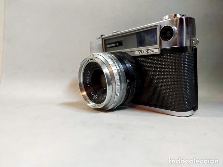 Cámara de fotos: CAMARA DE FOTOS YASHICA MD JAPAN, NUMERADA, CON FUNDA DE CUERO NEGRO ORIGINAL - Foto 7 - 194884612