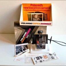 Cámara de fotos: POLAROID SUPER SWINGER SET COMO NUEVA EN CAJA ORIGINAL COMPLETA. Lote 195096688