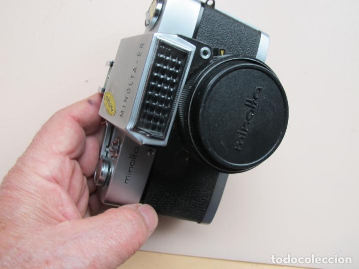 Cámara de fotos: CÁMARA COMPACTA MINOLTA-ER CON ROKKOR-TD 45 MM./ 2,8 + FUNDA PIEL - AÑO 1963 - RARA - DE COLECCIÓN - Foto 2 - 197789276