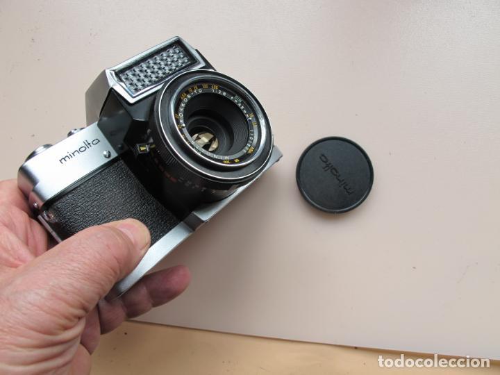 Cámara de fotos: CÁMARA COMPACTA MINOLTA-ER CON ROKKOR-TD 45 MM./ 2,8 + FUNDA PIEL - AÑO 1963 - RARA - DE COLECCIÓN - Foto 6 - 197789276