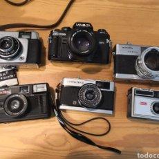 Cámara de fotos: 6 CÁMARAS DE FOTOS MINOLTA, DACORA, HALINA, OLYMPUS, KODAC. Lote 203572157