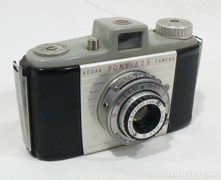 Cámara de fotos: Antigua cámara Fotográfica de colección Kodak Pony 828 - Foto 4 - 206227345