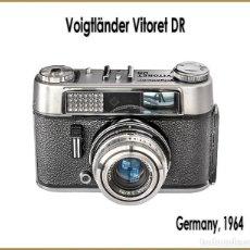 Cámara de fotos: VOIGTLANDER VITORET DR. TELEMÉTRICA ALEMANA DE 1964. EXCELENTE ESTADO.. Lote 207337662