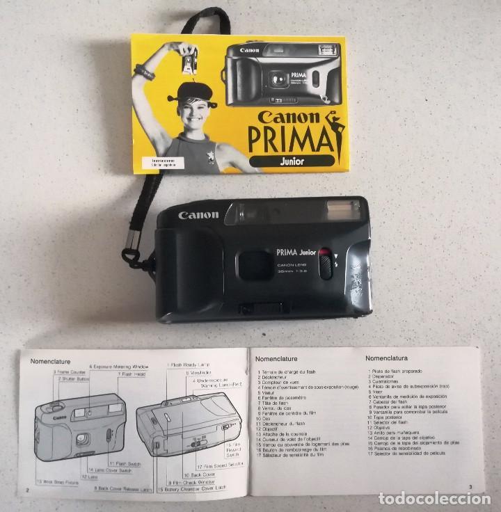 CAMARA CANON PRIMA JUNIOR (Cámaras Fotográficas - Clásicas (no réflex))
