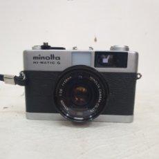Cámara de fotos: MINOLTA HI MATIC G. Lote 210375953