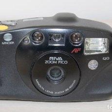 Cámara de fotos: ANTIGUA CÁMARA FOTOGRÁFICA COMPACTA MINOLTA RIVA - ZOOM PICO CON FUNDA ORIGINAL. Lote 210457052