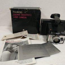 Cámara de fotos: RETRO.VINTAGE.POLAROID SQUARE SHOOTER 2.1972.CAJA E INSTRUCCIONES.OFERTON. Lote 210787691