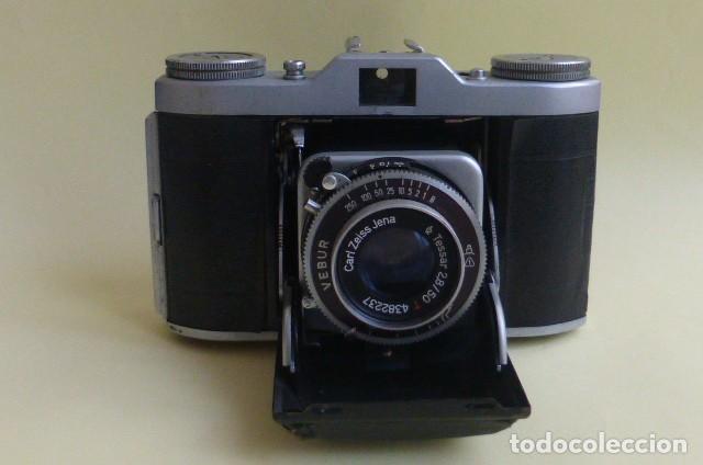 Cámara de fotos: Camara de fuelle, Beltica..Carl Zeiss Jena....Decada de los 50/60...Ver fotos..Descripcion. - Foto 2 - 211933998