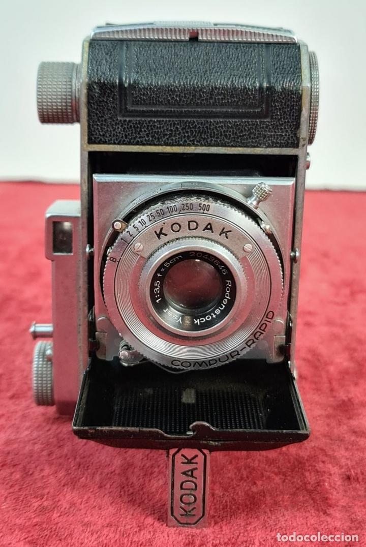 Cámara de fotos: CÁMARA FOTOGRAFICA KODAK RETINA. COMPUR RAPID. FUNDA ORIGINAL. CIRCA 1950. - Foto 2 - 218486801