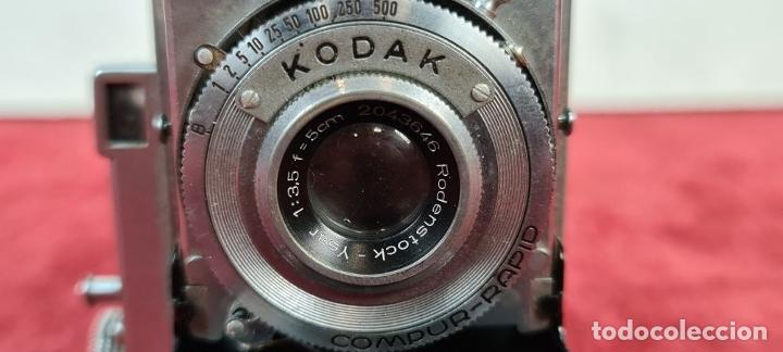 Cámara de fotos: CÁMARA FOTOGRAFICA KODAK RETINA. COMPUR RAPID. FUNDA ORIGINAL. CIRCA 1950. - Foto 3 - 218486801