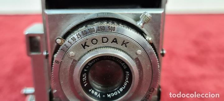 Cámara de fotos: CÁMARA FOTOGRAFICA KODAK RETINA. COMPUR RAPID. FUNDA ORIGINAL. CIRCA 1950. - Foto 4 - 218486801