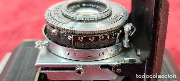 Cámara de fotos: CÁMARA FOTOGRAFICA KODAK RETINA. COMPUR RAPID. FUNDA ORIGINAL. CIRCA 1950. - Foto 7 - 218486801