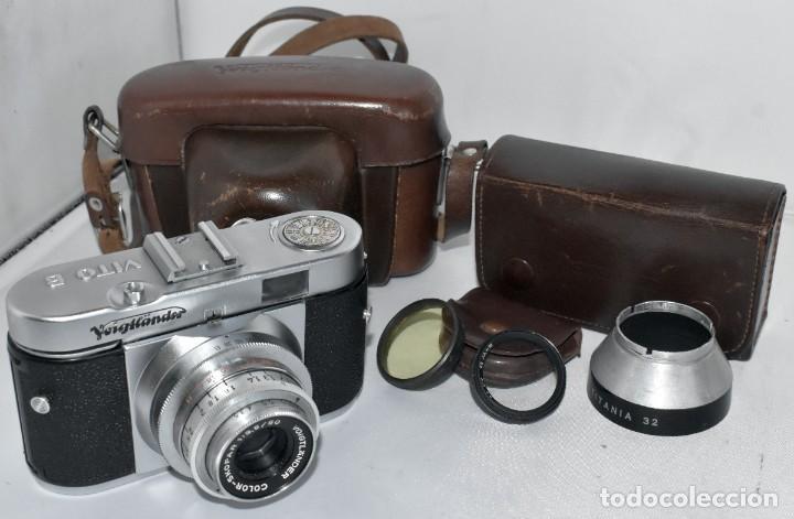 Cámara de fotos: 35 mm, CALIDAD..VOIGTLANDER VITO B+FUNDA+PARASOL+FILTROS, ..ALEMANIA 1957..MUY BUEN ESTADO..FUNCIONA - Foto 3 - 221652930