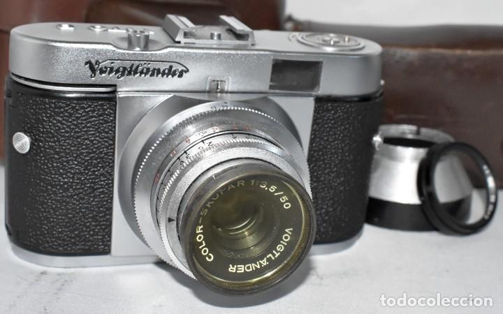 Cámara de fotos: 35 mm, CALIDAD..VOIGTLANDER VITO B+FUNDA+PARASOL+FILTROS, ..ALEMANIA 1957..MUY BUEN ESTADO..FUNCIONA - Foto 4 - 221652930