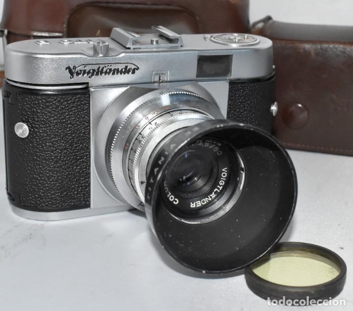 Cámara de fotos: 35 mm, CALIDAD..VOIGTLANDER VITO B+FUNDA+PARASOL+FILTROS, ..ALEMANIA 1957..MUY BUEN ESTADO..FUNCIONA - Foto 5 - 221652930
