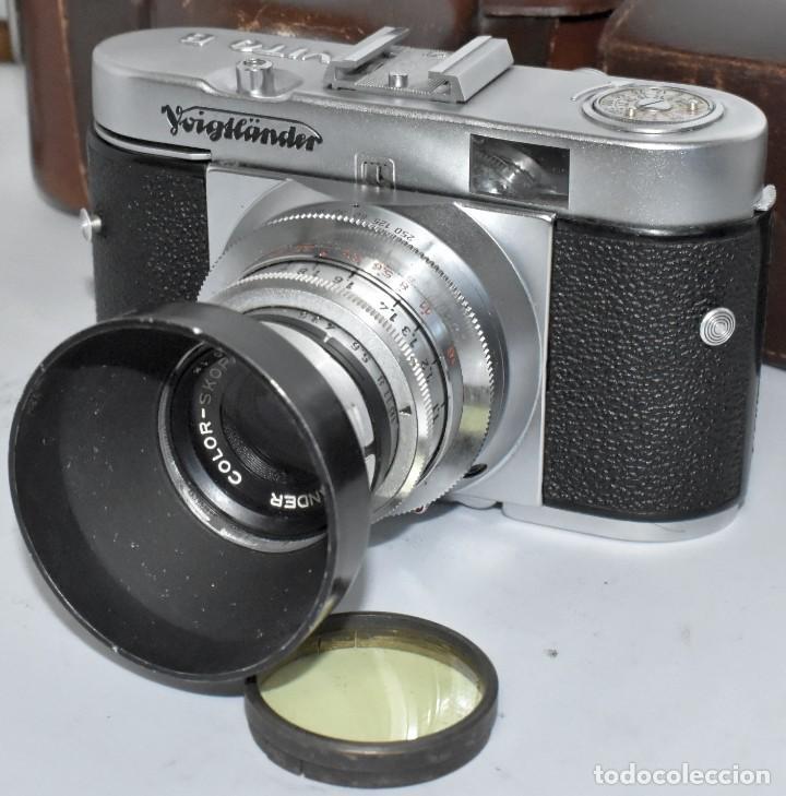 Cámara de fotos: 35 mm, CALIDAD..VOIGTLANDER VITO B+FUNDA+PARASOL+FILTROS, ..ALEMANIA 1957..MUY BUEN ESTADO..FUNCIONA - Foto 8 - 221652930