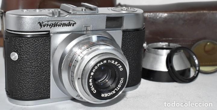 Cámara de fotos: 35 mm, CALIDAD..VOIGTLANDER VITO B+FUNDA+PARASOL+FILTROS, ..ALEMANIA 1957..MUY BUEN ESTADO..FUNCIONA - Foto 10 - 221652930