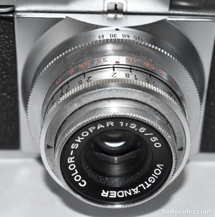 Cámara de fotos: 35 mm, CALIDAD..VOIGTLANDER VITO B+FUNDA+PARASOL+FILTROS, ..ALEMANIA 1957..MUY BUEN ESTADO..FUNCIONA - Foto 13 - 221652930