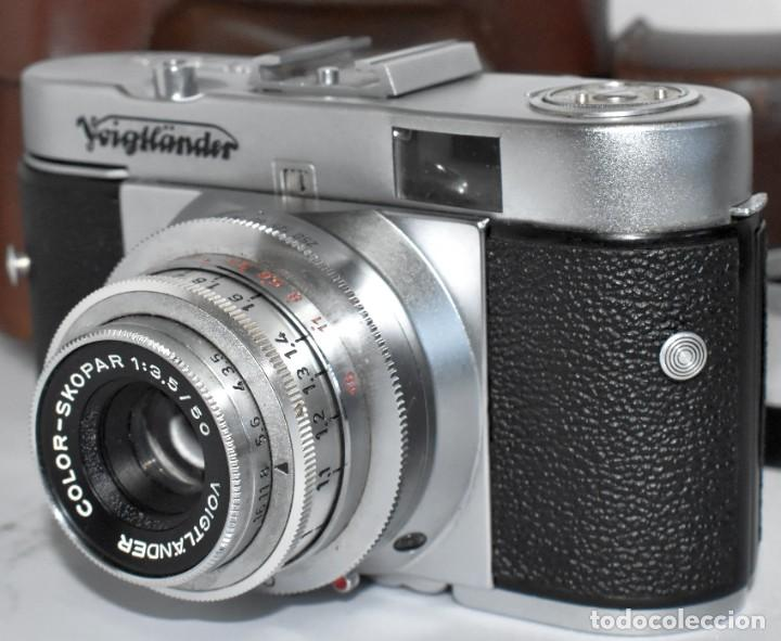 Cámara de fotos: 35 mm, CALIDAD..VOIGTLANDER VITO B+FUNDA+PARASOL+FILTROS, ..ALEMANIA 1957..MUY BUEN ESTADO..FUNCIONA - Foto 15 - 221652930