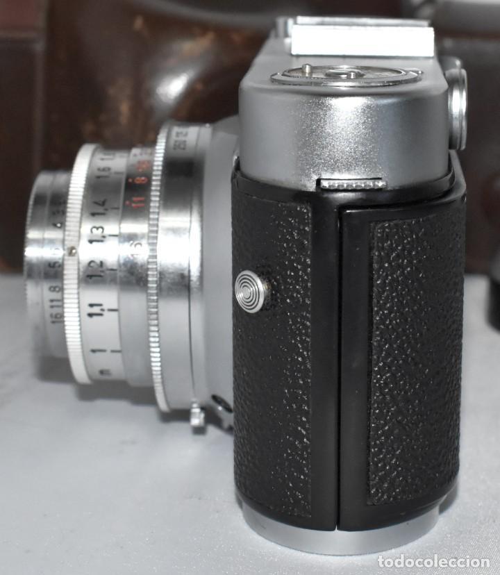 Cámara de fotos: 35 mm, CALIDAD..VOIGTLANDER VITO B+FUNDA+PARASOL+FILTROS, ..ALEMANIA 1957..MUY BUEN ESTADO..FUNCIONA - Foto 16 - 221652930