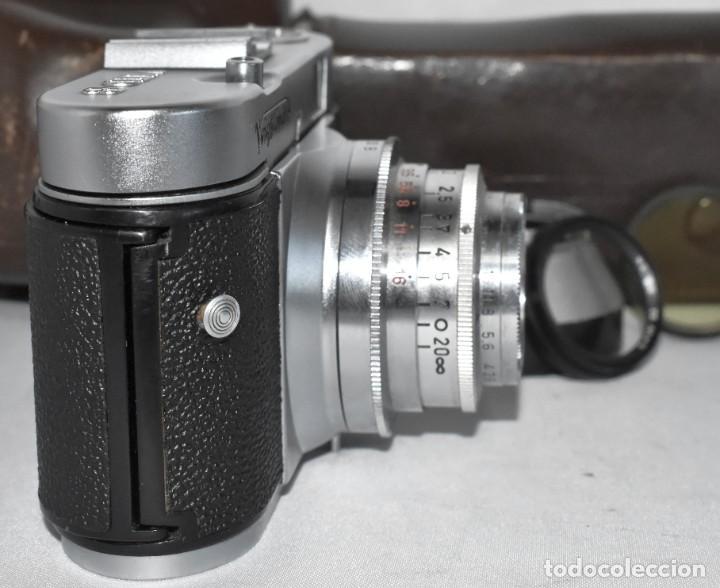 Cámara de fotos: 35 mm, CALIDAD..VOIGTLANDER VITO B+FUNDA+PARASOL+FILTROS, ..ALEMANIA 1957..MUY BUEN ESTADO..FUNCIONA - Foto 20 - 221652930