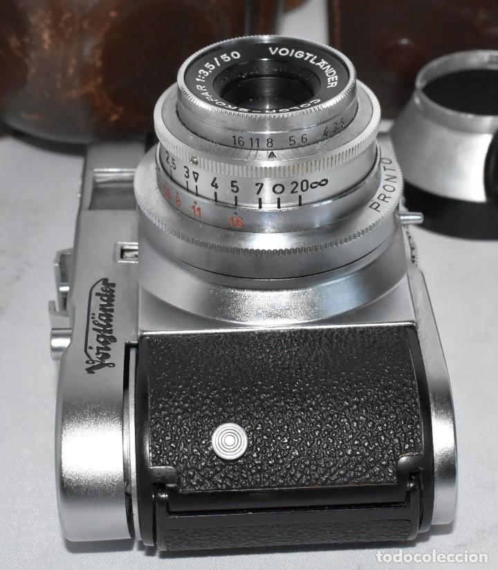 Cámara de fotos: 35 mm, CALIDAD..VOIGTLANDER VITO B+FUNDA+PARASOL+FILTROS, ..ALEMANIA 1957..MUY BUEN ESTADO..FUNCIONA - Foto 21 - 221652930