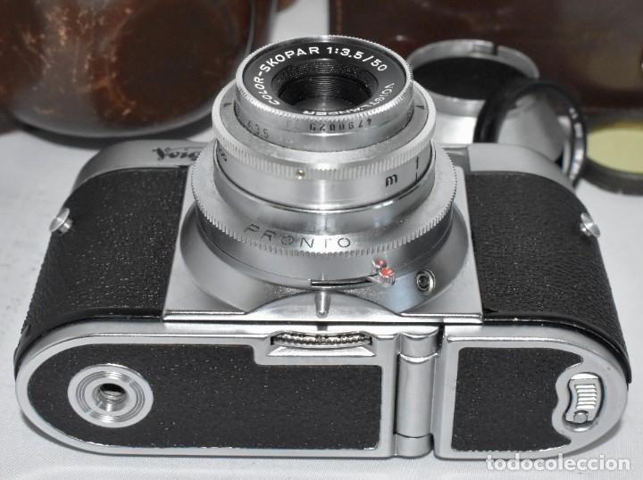 Cámara de fotos: 35 mm, CALIDAD..VOIGTLANDER VITO B+FUNDA+PARASOL+FILTROS, ..ALEMANIA 1957..MUY BUEN ESTADO..FUNCIONA - Foto 22 - 221652930