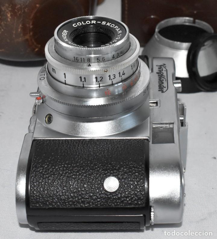 Cámara de fotos: 35 mm, CALIDAD..VOIGTLANDER VITO B+FUNDA+PARASOL+FILTROS, ..ALEMANIA 1957..MUY BUEN ESTADO..FUNCIONA - Foto 23 - 221652930