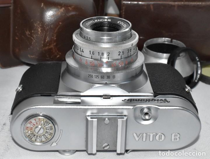 Cámara de fotos: 35 mm, CALIDAD..VOIGTLANDER VITO B+FUNDA+PARASOL+FILTROS, ..ALEMANIA 1957..MUY BUEN ESTADO..FUNCIONA - Foto 24 - 221652930