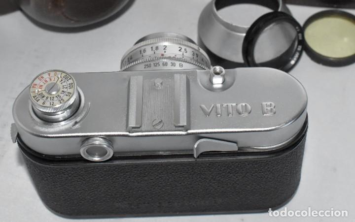 Cámara de fotos: 35 mm, CALIDAD..VOIGTLANDER VITO B+FUNDA+PARASOL+FILTROS, ..ALEMANIA 1957..MUY BUEN ESTADO..FUNCIONA - Foto 25 - 221652930
