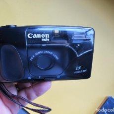 Cámara de fotos: CÁMARA COMPACTA CANON MATE DX FLASH ( FORMATO 24 X 36 ) + FUNDA. Lote 248096730