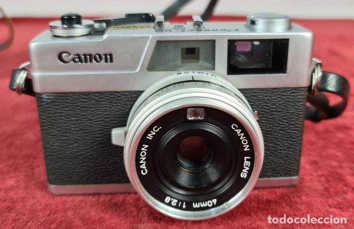 Cámara de fotos: PAREJA DE CÁMARAS FOTOGRAFICAS CANON. CANONET Y CANONET 28. 35 MM. CIRCA 1960. - Foto 2 - 249512455