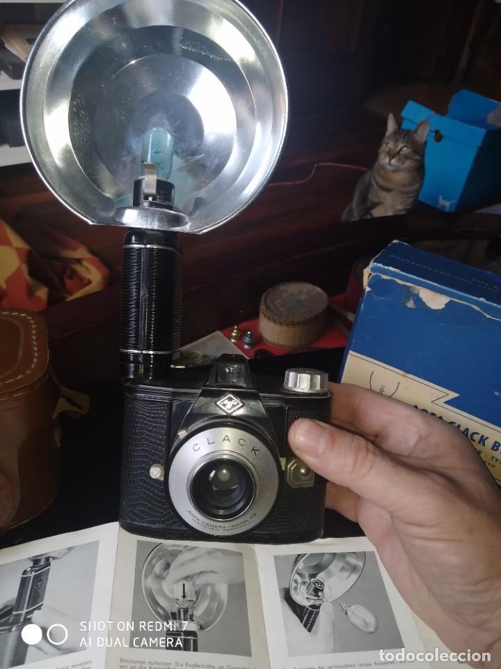 Cámara de fotos: Agfa Clack con su flash y funda - Foto 2 - 253547365