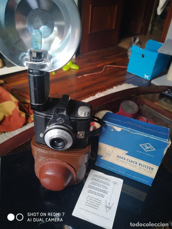 Cámara de fotos: Agfa Clack con su flash y funda - Foto 3 - 253547365