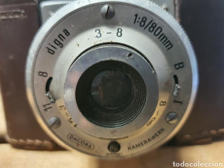Cámara de fotos: Antigua cámara Dacora con funda. - Foto 3 - 262738250